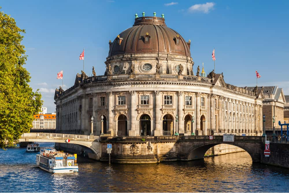 View of the Museum Island situated on the Spree River in Berlin