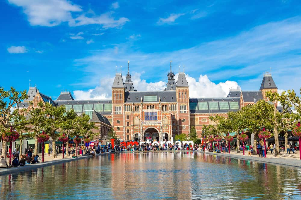 View of the Rijksmuseum Amsterdam