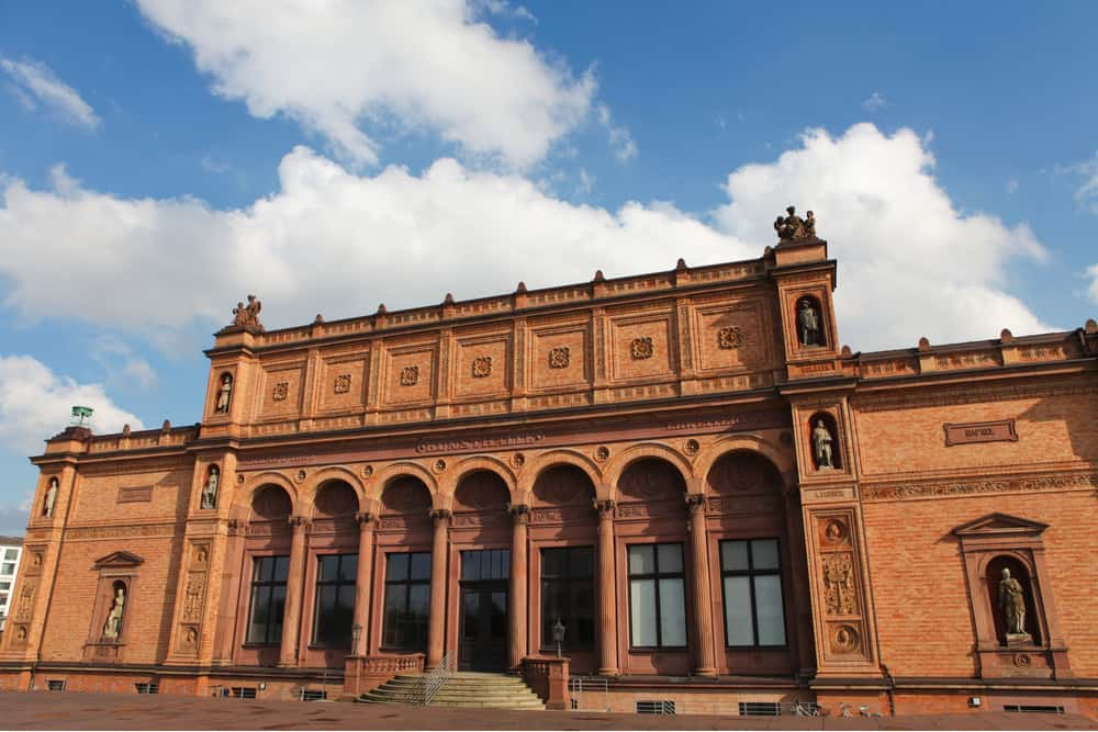 The famous Kunsthalle Hamburg art museum