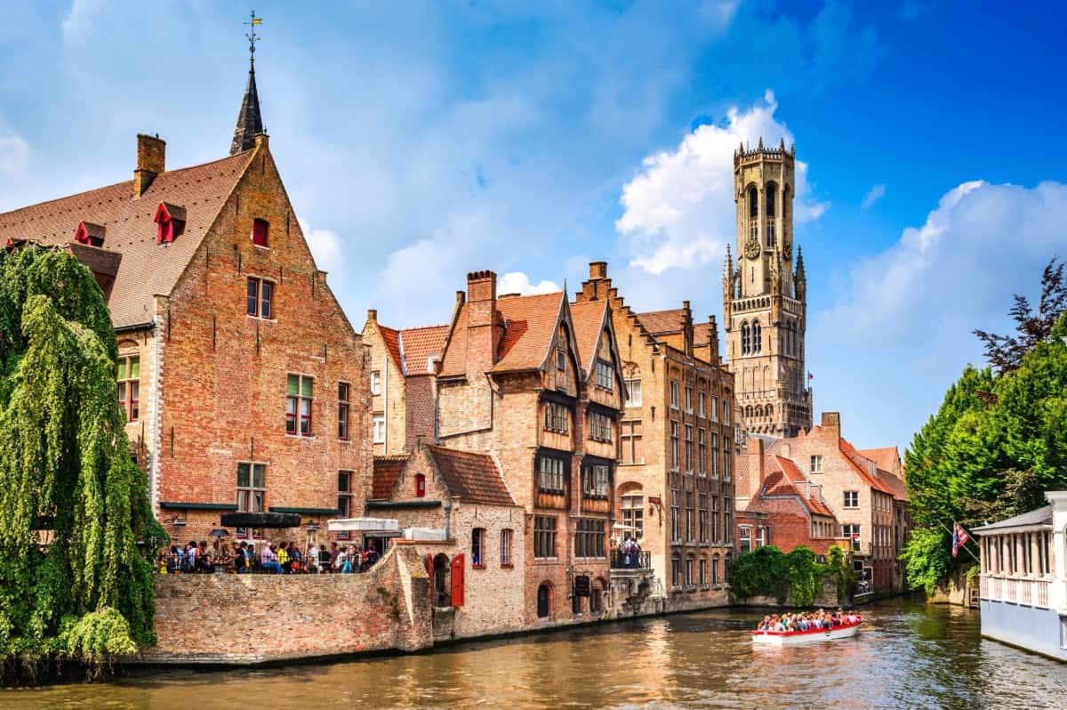 View of Bruges in Belgium