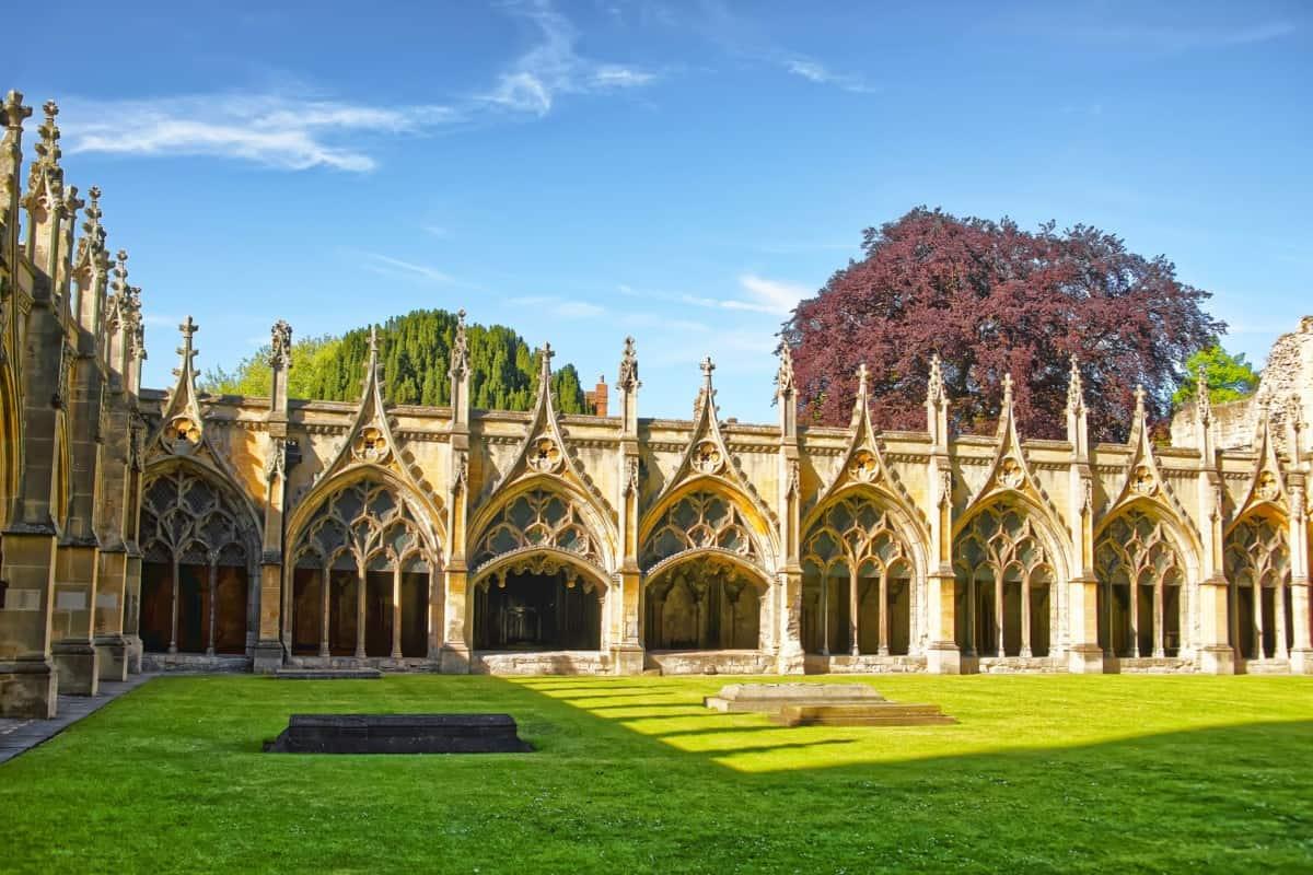 De tuinen van Canterbury Cathedral